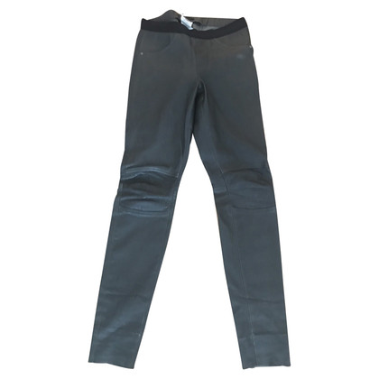 Riani Leather pants in khaki