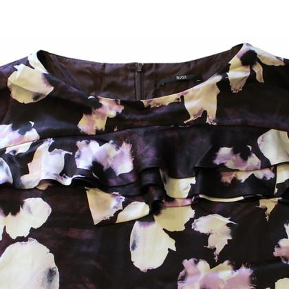 Hugo Boss Seidenkleid mit Blumen