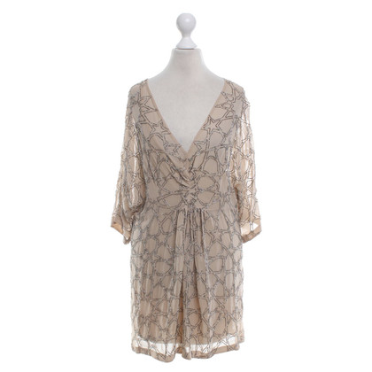 Needle & Thread Silk dress in beige