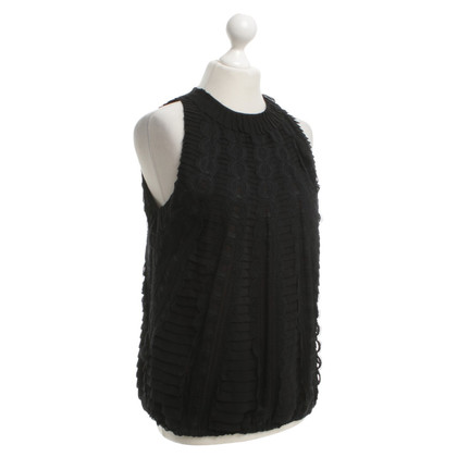 Carolina Herrera Top in seta in Black