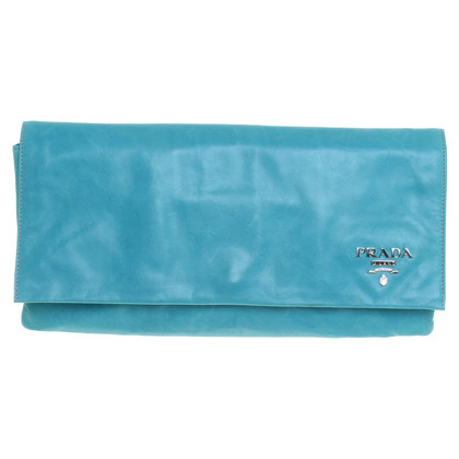 Prada clutch turkoois