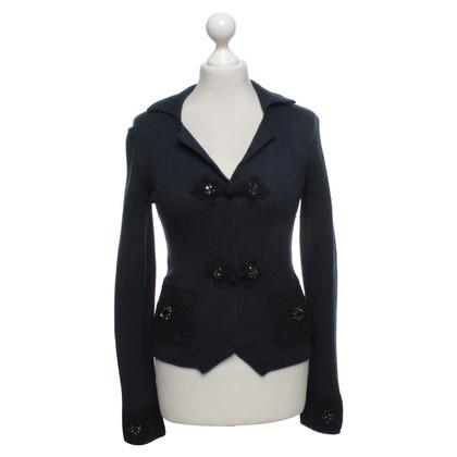 Luisa Cerano Vest in donkerblauw