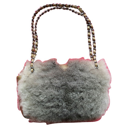 Chanel Flap Bag with fur trim