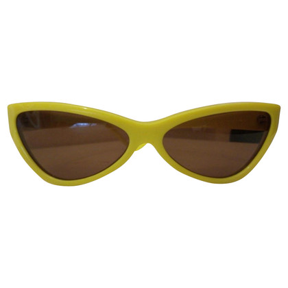 Miu Miu Lunettes de soleil en jaune