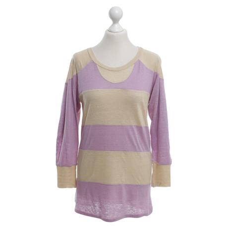 Isabel Marant Leinen Shirt in Beige/Violett Violett