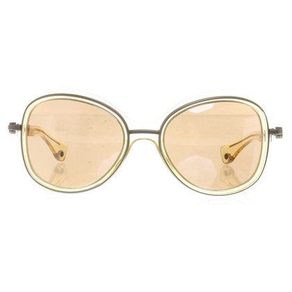 Moncler Sonnenbrille in Creme