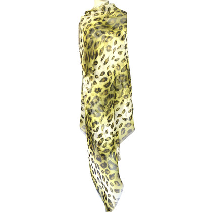 Burberry Prorsum Foulard en soie avec motif léopard