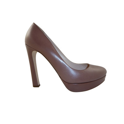 Miu Miu Smooth leather pumps