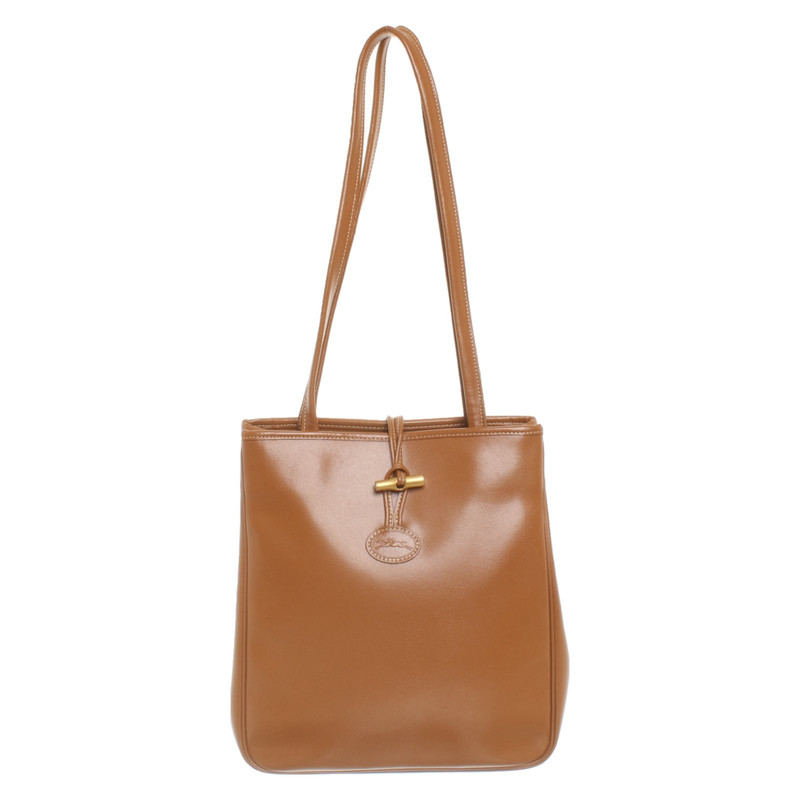Longchamp Handtasche aus Leder in Braun Second Hand