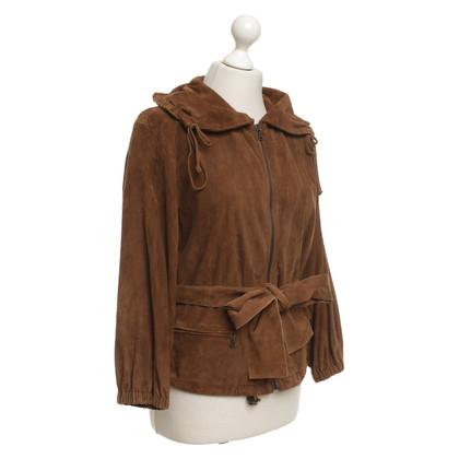 Prada Suede jacket in brown