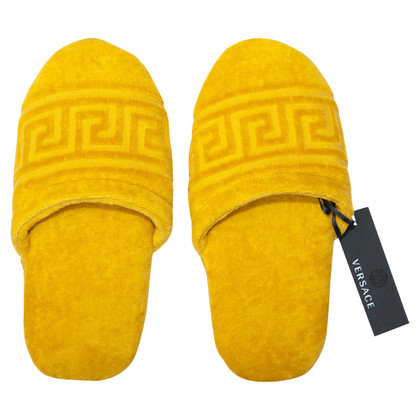 Versace Slippers in yellow