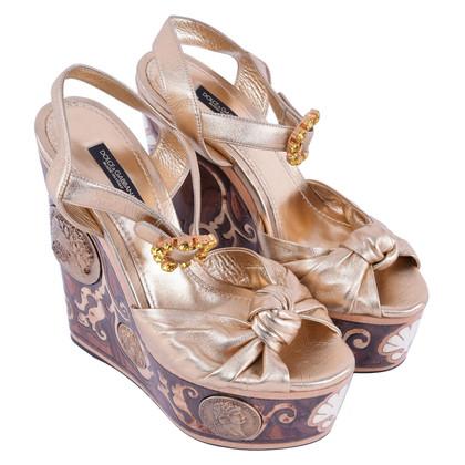 Dolce & Gabbana RUNWAY platform sandalen Gold
