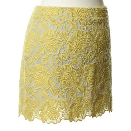 Stella McCartney Yellow skirt with crochet lace