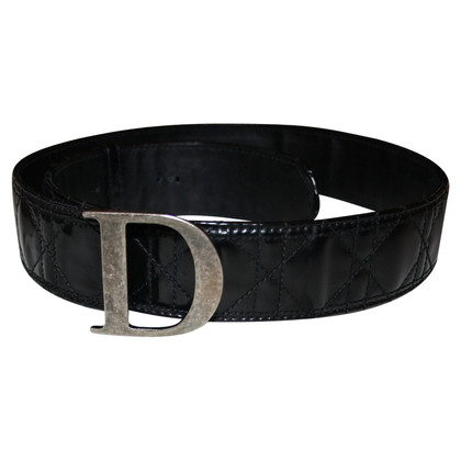 Christian Dior Leather Belt in Cannage ontwerp