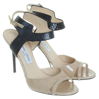Jimmy Choo Sandali in pelle mix