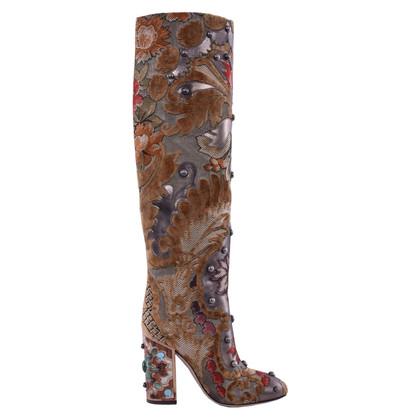 Dolce & Gabbana geborduurde laarzen