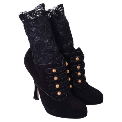 Dolce & Gabbana PISTA barocchi stivali di camoscio
