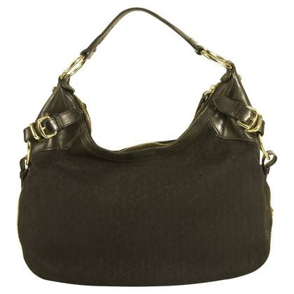 DKNY Black Studded Hobo