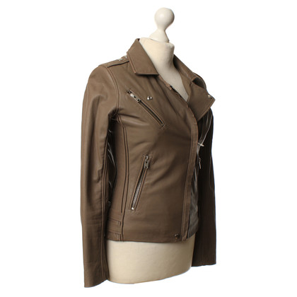 Iro Leather jacket in Taupe