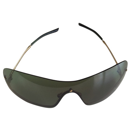 Gucci GUCCI occhiali oversize oro verde