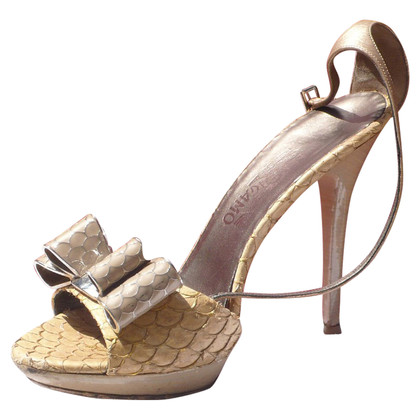 Salvatore Ferragamo Leather Sandals Python