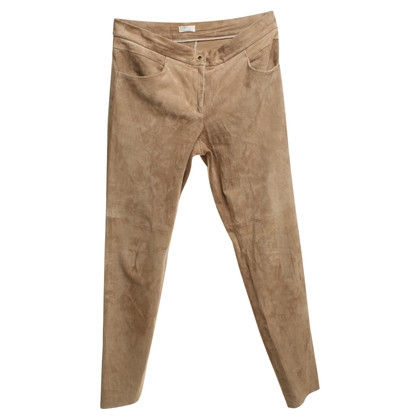Brunello Cucinelli Leather pants in beige