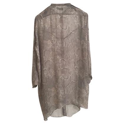 Acne Blusenkleid mit Schlangenprint