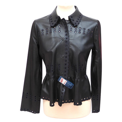 Valentino Leather jacket with cut outs
