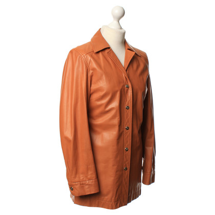 Escada Leather jacket with T-Shirt