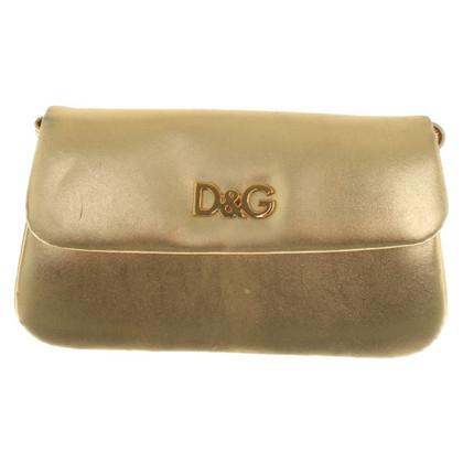 D&G Umhängetasche in Goldfarben