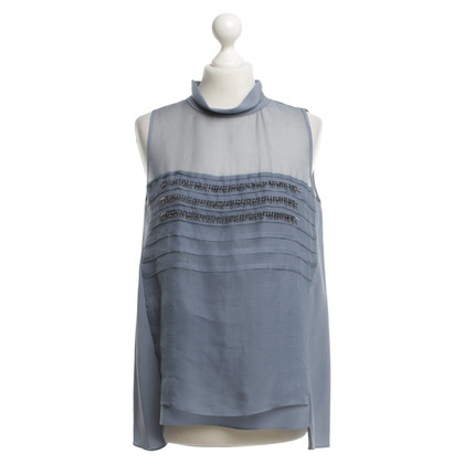 Dorothee Schumacher Silk top in blue / grey