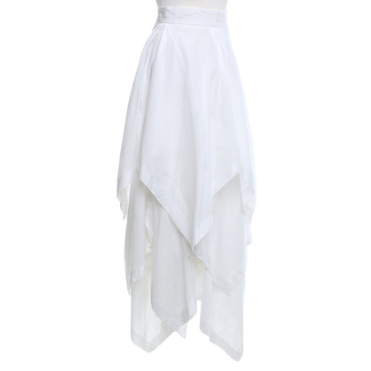 Moschino Stepped skirt in white