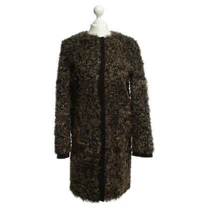 Dolce & Gabbana Cappotto di montone in marrone