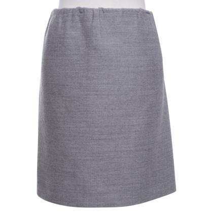 Lanvin skirt in mottled light gray