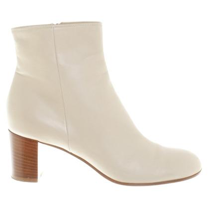 Gianvito Rossi Ankle boots in cream