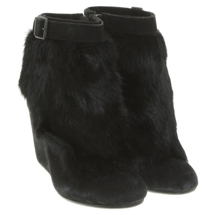 Ash Wedges with fur trim