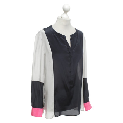 Steffen Schraut Silk blouse in tricolor