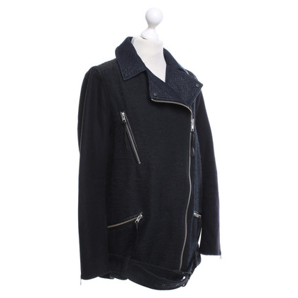 All Saints Biker-Jacke in Blau