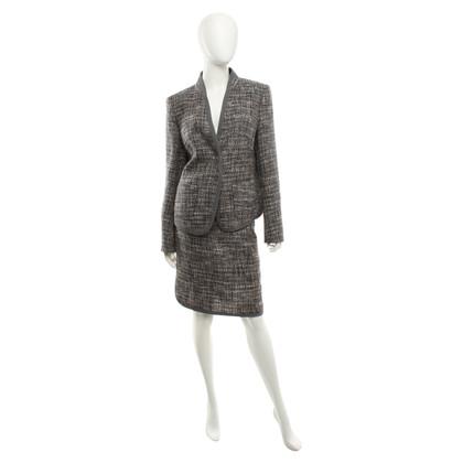 Escada Bouclé pak in grijs / gemengde kleuren