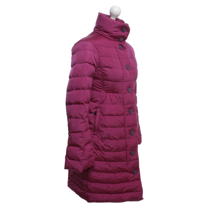 Moncler Quilted coat in fuchsia with down filling