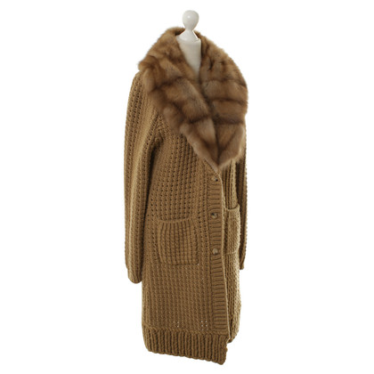 Ermanno Scervino Sweater coat with Sable fur