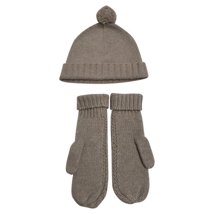 Repeat Cashmere Set of cap & gloves