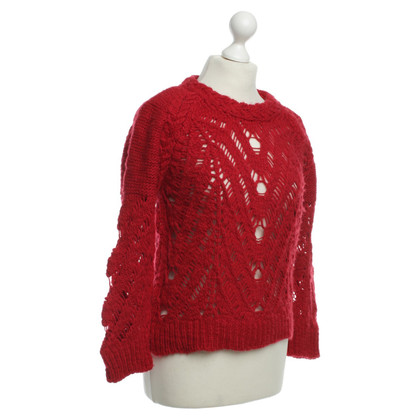 Iro Red knit pullover