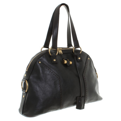 """Yves Saint Laurent """"Muse Bag"""" in colore marrone scuro"""