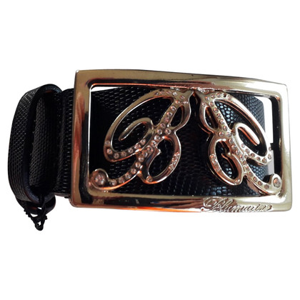Blumarine Leather belt in black