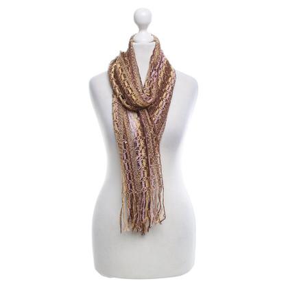 Missoni Gebreide sjaal in Multicolor