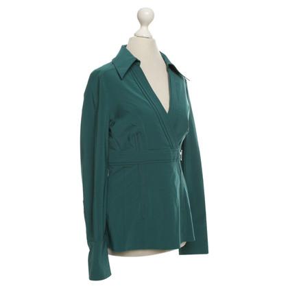 Karen Millen blouse Petrol