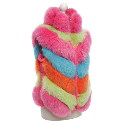Escada Fur vest in multicolor