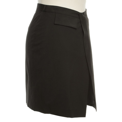 Costume National Wrap-around skirt with pin-stripe pattern