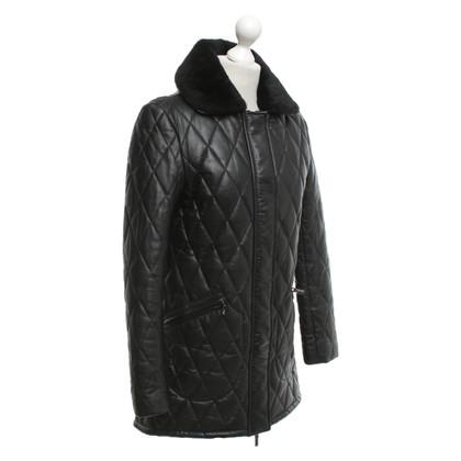 Arma Leren jas in zwart